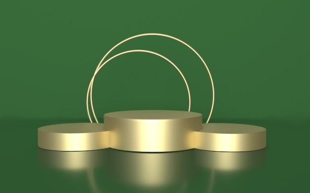 Sfondo di podio display prodotto verde