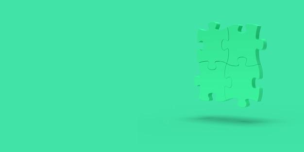 Puzzle verde su verde