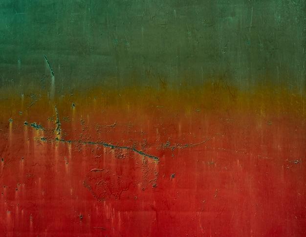 Sfondo di metallo verde-rosso