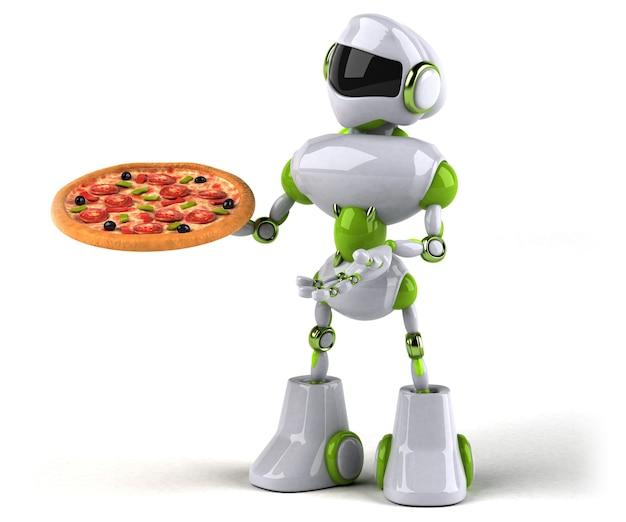 Robot verde - personaggio 3d