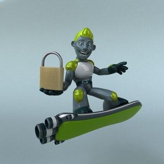 Illustrazione del robot verde