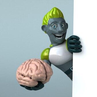 Illustrazione di robot verde