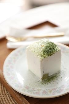 Tè verde macha torta dolce in stile giapponese