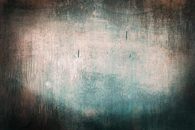 Marea verde, blu, turchese vecchio legno sfondi texture. arancione, arrugginito, rugosità e crepe. cornice, vignetta