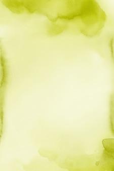 Acquerello verde texture carta digitale giallo acqua colore di sfondo