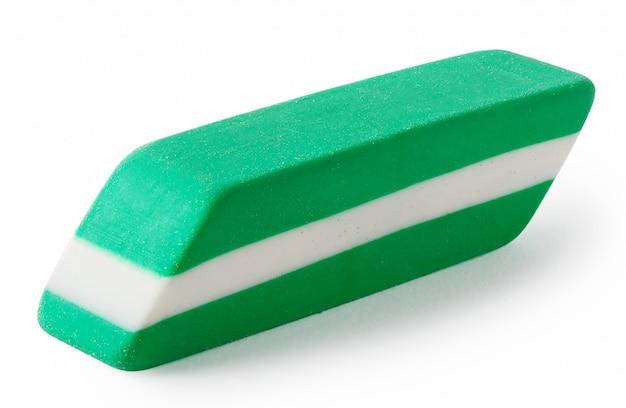 Verde con gomma bianca