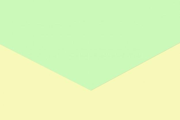 Colore di carta pastello verde e giallo per il fondo di struttura