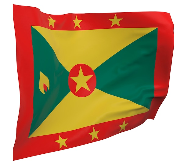 Grenada bandiera isolata. banner sventolante. bandiera nazionale di grenada