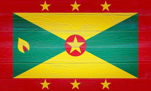 Bandiera grenada dipinta su assi di legno