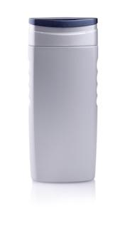 Bottiglia grigia di shampoo