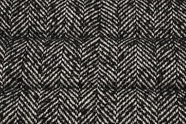 Trama di tessuto a maglia grigio. vista dall'alto.