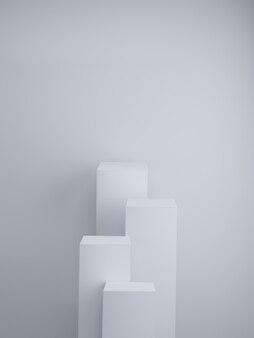 Podio grigio. esposizione del prodotto. rendering 3d