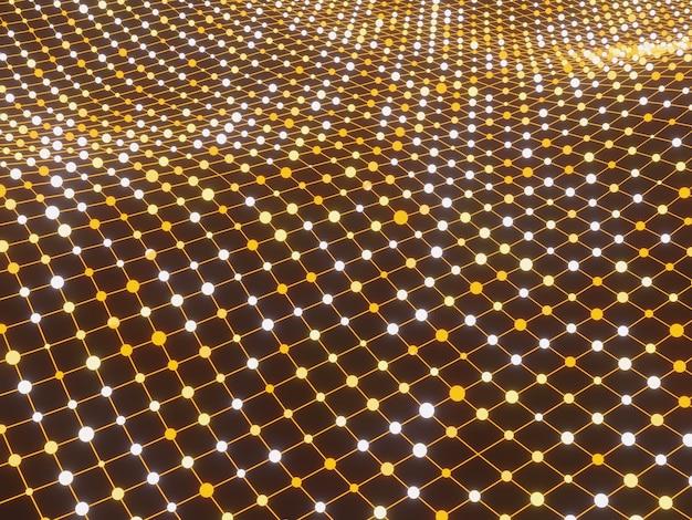 Particelle di griglia priorità bassa astratta di scienza