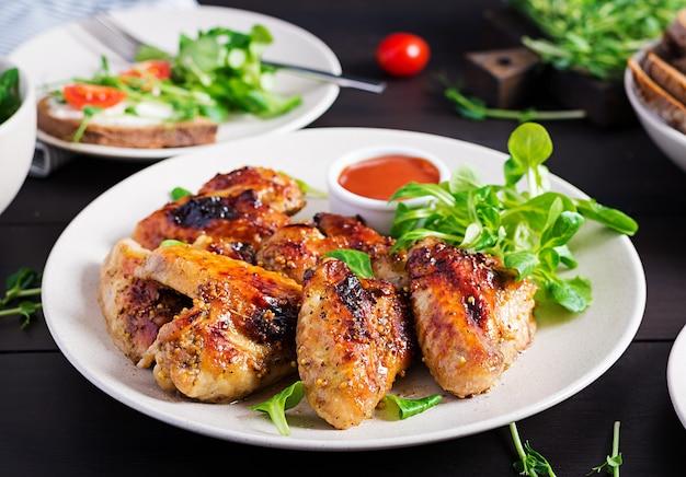 Ali di pollo alla griglia