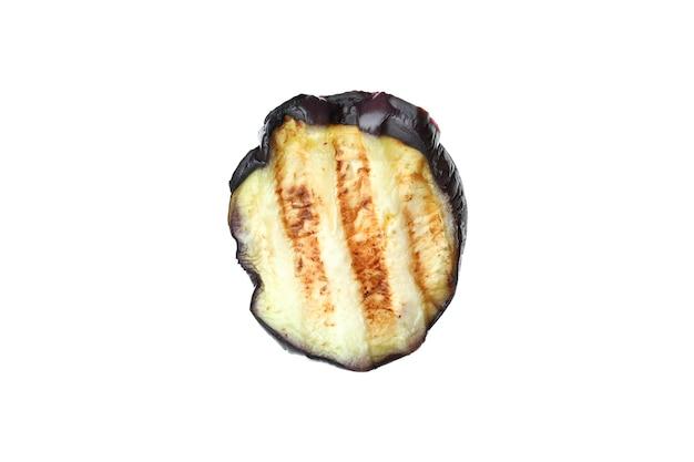 Fetta di zucchine grigliate isolato su sfondo bianco