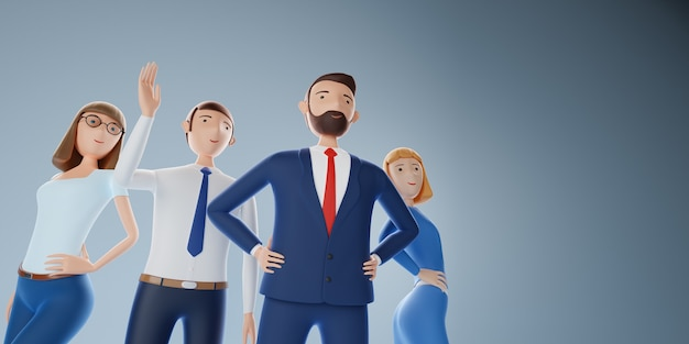Gruppo del team aziendale d'élite. successo del concetto di business. illustrazione 3d