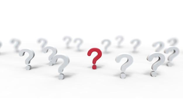 Gruppo di icona del punto interrogativo isolato su bianco