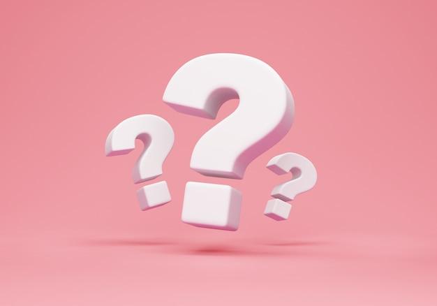 Gruppo di punti interrogativi isolati