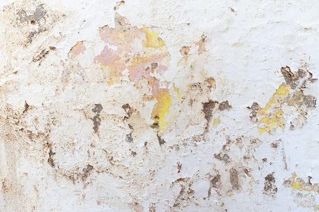 Sfondo astratto grunge. intonaco e intonaco di vernice, danni strutturali, danni da acqua sul muro dell'edificio