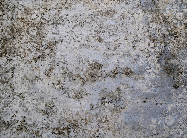 Grunge invecchiato modello damascato superficie con texture di sfondo