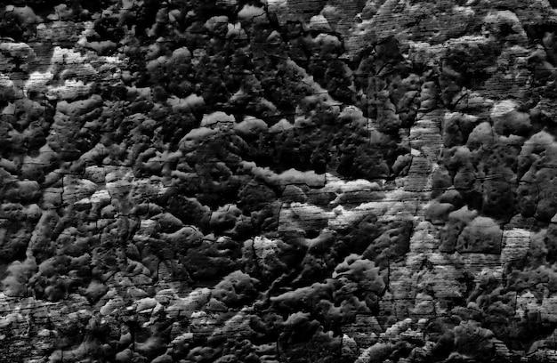 Il nero di lerciume di struttura della parete della crepa, vecchio fondo della parete