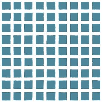 Grunge blu navy e sfondo a scacchi bianco. sfondo vintage con motivo senza fine plaid disegnato a mano di inchiostro. trama a strisce senza cuciture alla moda. per tessuto, tessile, fashion design, confezionamento, carta da parati.