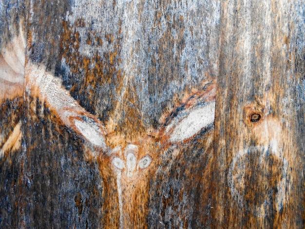 Grunge texture sfondo stecca di legno marrone con nodi marroni