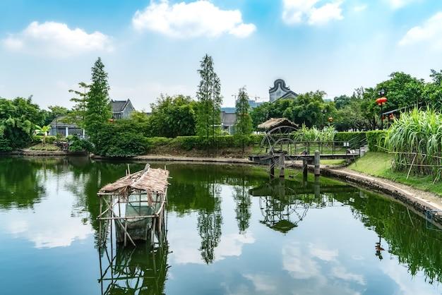 Costruzioni e case antiche di canton lingnan
