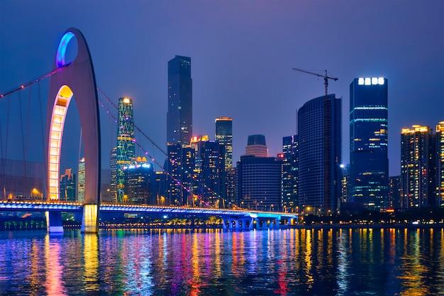Skyline di guangzhou. guangzhou, cina