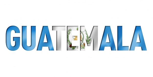 Carattere di testo bandiera guatemala