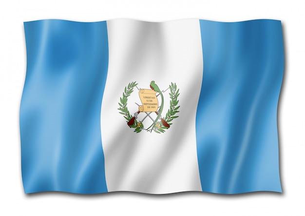 Bandiera guatemalteca isolata