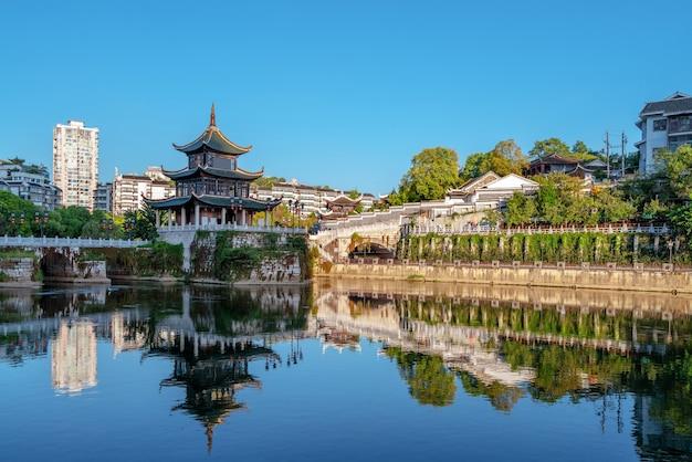 Il famoso paesaggio architettonico antico di guiyang.