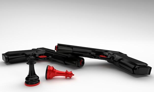Pistola e re