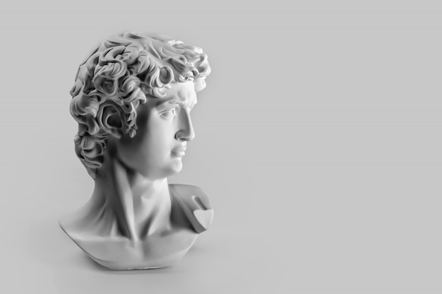 Statua in gesso della testa di david