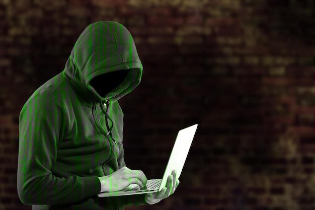 Gli hacker rubano in sicurezza i tuoi dati e il tuo sistema con il codice internet.