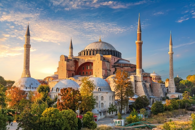 Hagia sophia, famoso punto di riferimento di istanbul, turchia.