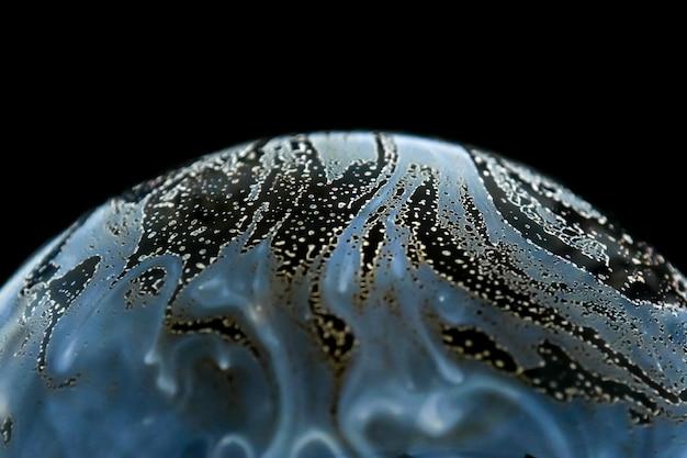 Semicerchio astratto del fondo della palla della bolla del sapone mezzo.