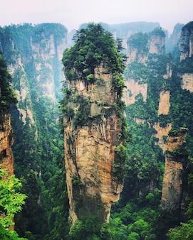 Montagna di halleluja a zhangjiajie, in cina