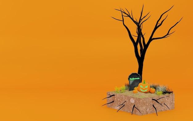 Concetto di illustrazione 3d di halloween