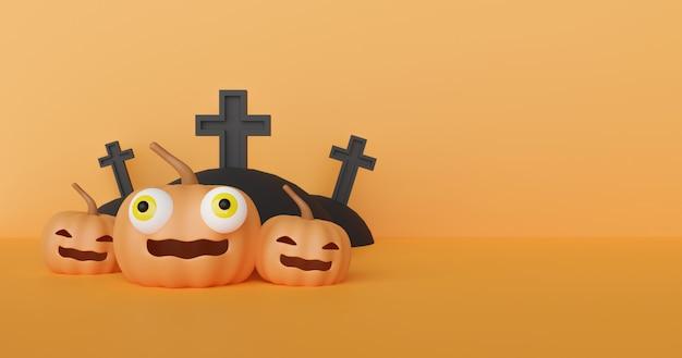 Sfondo di halloween con zucche carini
