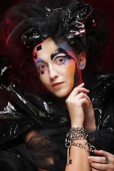 Trucco della donna di stile di bellezza di halloween