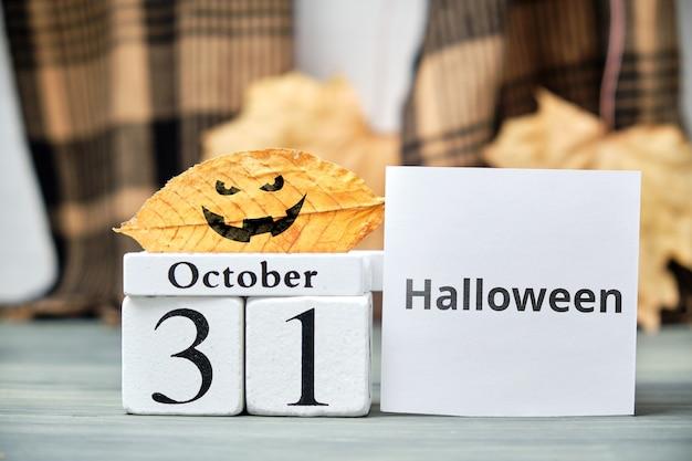 Giorno di halloween del mese di autunno calendario ottobre