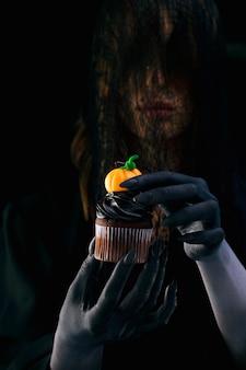 Assortimento di cibo per feste di halloween