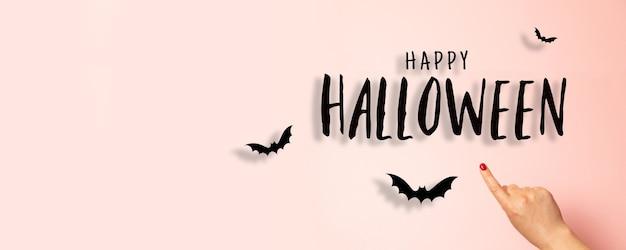 Mockup di biglietto di auguri festa di halloween