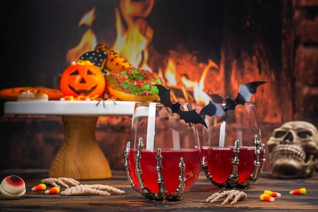 Tavolo da festa dolcetto o scherzetto di halloween