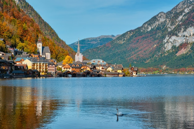 Villaggio di hallstatt austria