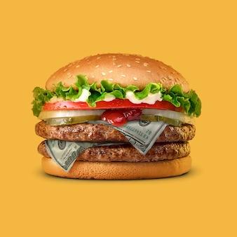 Hamburger con ricompense di rimborso di 100 dollari nei tuoi acquisti online