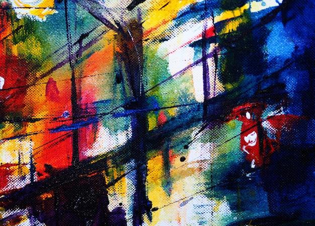 Disegnare a mano sfondo colorato ad acquerello astratto e strutturato