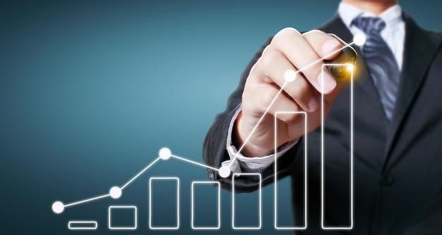 Grafico di disegno a mano, stock grafico di crescita