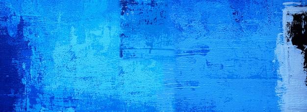 Illustrazione disegnata a mano di disegno di struttura di colori del fondo di panorama di arte astratta della pittura blu disegnata a mano